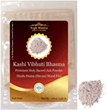 Yogic Mantra Kashi Vibhuti Bhasma Holy Ash Powder (100 g / 3.52 oz Sacred Ash Resealable Pouch Pack) Energized Vibhuti Powder For Hindu Holy Pooja Vidhi, Puja Items Samagri & Vibhooti Tripundra Tikka