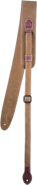 XL Pro Comfy regular, jengibre Correa de cuero para guitarra extralarga