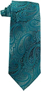 Children's Tie (ages 8-14 years old) Malibu Turquoise and Silver Paisley Youth Tie