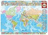 Educa Borrás-1500 Mapamundi Político, Puzzle (17117)