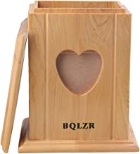 BQLZR 20.4x17x13cm Wooden Cedarwood Dog Cat Pet Memorial Box Cremation Ashes Remembrance Urn with Heart Shape Photo Frame