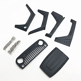 KYX Racing DIY Nylon Fender Hood Grille Set for 1/10 Rc Crawler Jeep Body