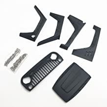 KYX Racing DIY Nylon Fender Hood Grille Set for 1/10 Rc Crawler Jeep Body