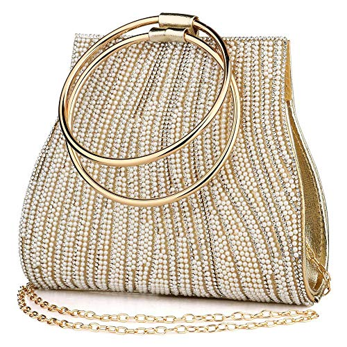 Bolso de mano de cristal para mujer, con diamantes de imitación, para...