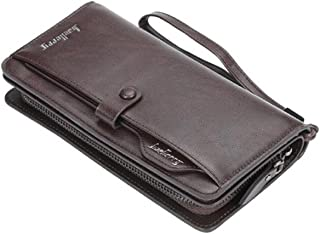 Long Men / Women Leather Wallet for Mony, Cards & Mobile Phone - Brown