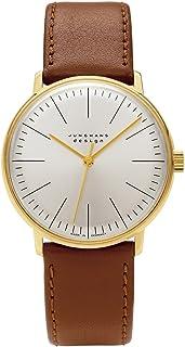 JUNGHANS - Max Bill Handaufzug - Reloj analógico de caballero automático con correa de piel marrón
