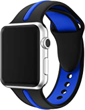 Compatible with Apple Watch Band 38mm 40mm, Light Soft Silicone Gel Chic Simple Line Style Sporty Watch Strap Replacement Wristband Bracelet for Apple Watch Series 5 4 (40mm) Series 3 2 1 (38mm)