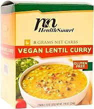 HealthSmart - High Protein Diet Dinner - Vegan Lentil Curry - 15g Protein - Low Calorie - Low Carb - Low Fat - Vegan - 7/Box