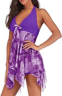 Generies Ladies Plus Size Set Women Beach Swimwear 2 Pcs Women Halter Sundress Bathing Suiting Plus Szie 5XL