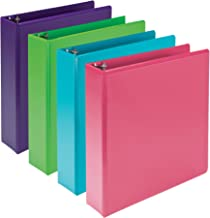 Samsill Earth's Choice Biobased Durable 3 Ring Binders, Fashion Clear View 2 Inch Binders, Up to 25% Plant Based Plastic, ...