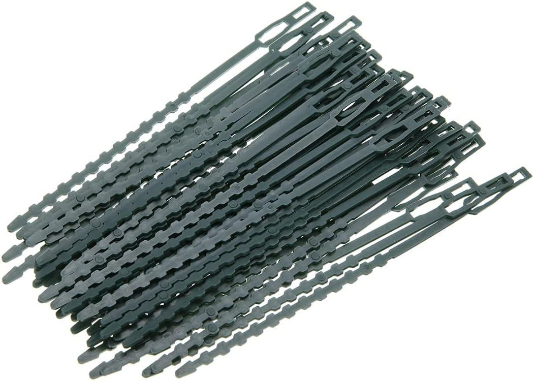 Max 88% OFF Kucus 50Pcs Adjustable Plastic Garden Tree Cable Ties Plant Clim Ranking TOP14