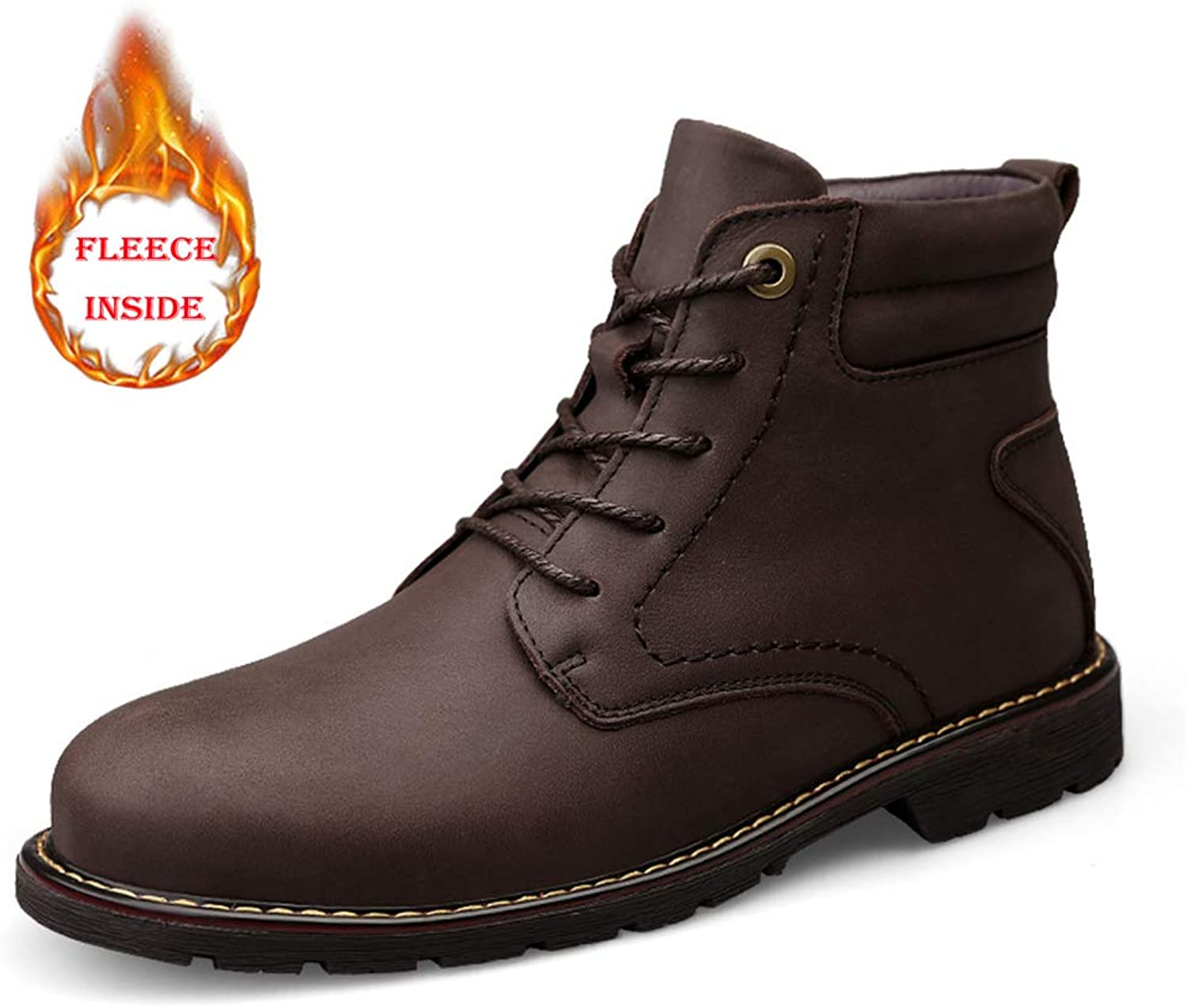 Seeker Casual Rindsleder High-Top-Outdoor-Laufsohle Stiefel Stiefel (Warm Velvet Optional) Herrenmode Stiefel New Winter Style  Werksverkauf