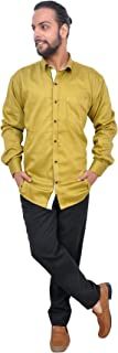 The Mods Men's Formal Golden Color Shirt