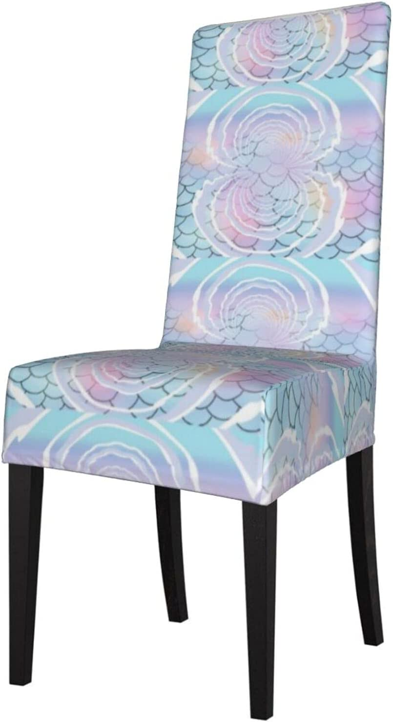 QUAVZI 2PCS Stretch Chair Covers for Scales Blue Room NEW before selling ☆ Dining Selling and selling Und