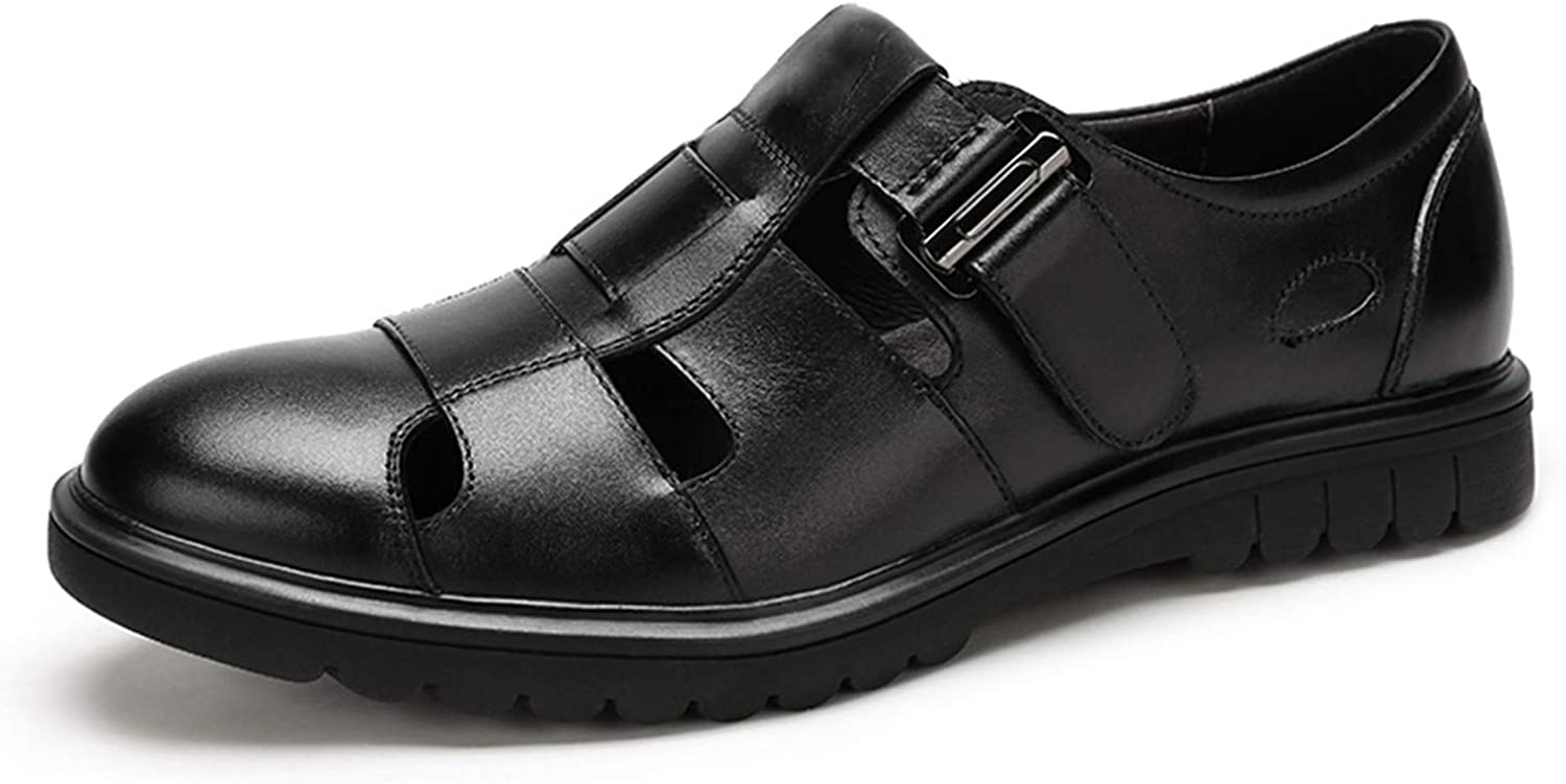 Staionsa Men Business Sandals Genuine Leather Breathable Comfortable shoes