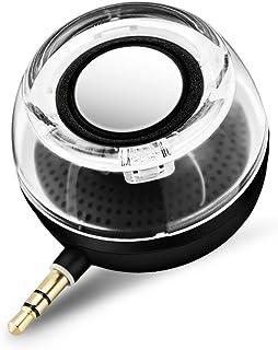 E-More 高音質ミニポータブルスピーカー PCスピーカー USB充電 スピーカー サブウーファー  デスクトップ/ラップトップ /タブレットPC /スマートフォン (ブラック)