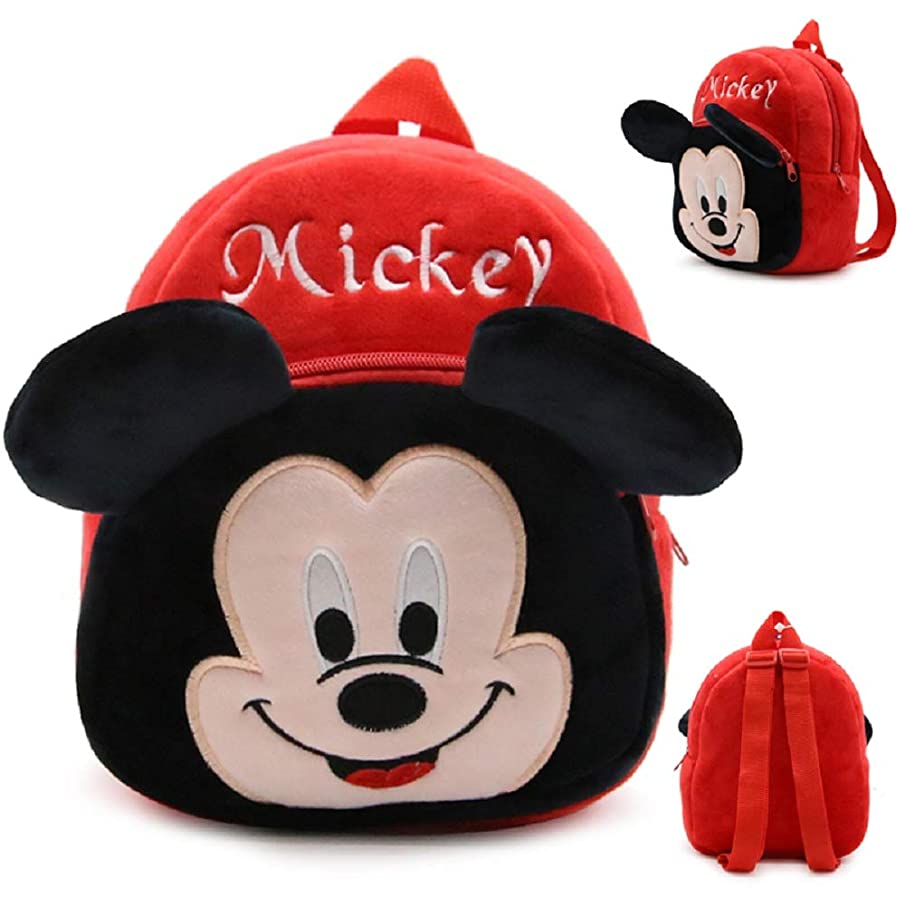 CUTE MICKEY MOUSE PLUSH TODDLER BACKPACK/LUNCH BAG