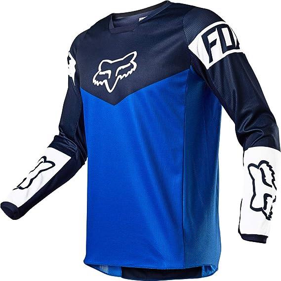 Fox 180 Revn Jugend Motocross Jersey Blau Blau Ys Auto