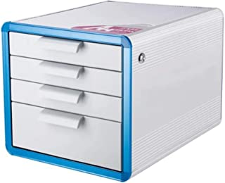 XHMCDZ Drawer Organizers Office Cabinets, Racks & Shelves Home Office Cabinets File Cabinet Aluminum Alloy A4 4 Layers Des...