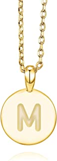 PAVOI 14K Rose Gold Plated Letter Necklace for Women   Gold Initial Necklace for Girls
