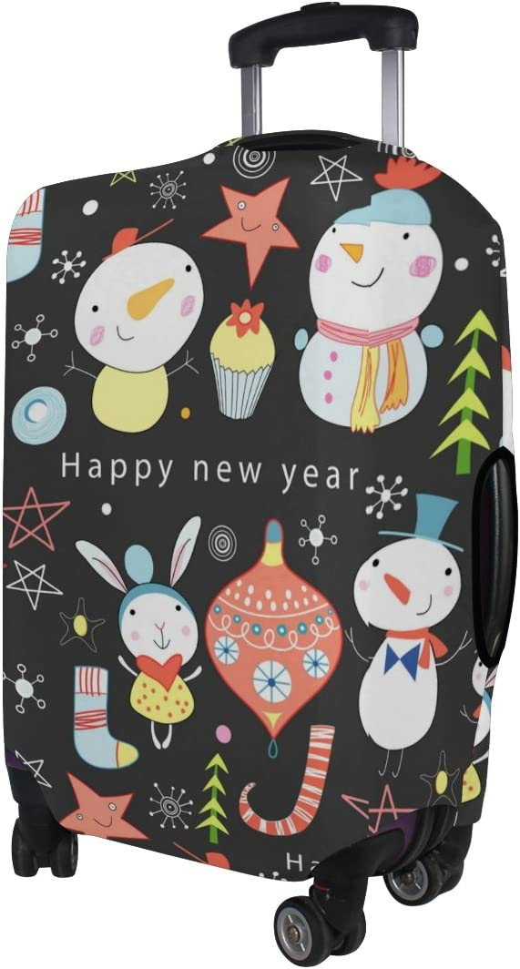 Cooper girl Cute Snowmen Travel Luggage Cover Suitcase Protector Fits 31-32 Inch