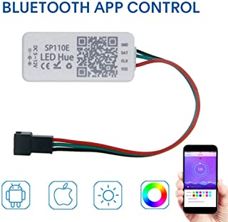 KORJO Bluetooth Controller App Control for Dream Color Led Strip Light with Chasing Effect RGB Rope Light (WS2811 WS2812B SK9822 etc.) 1024 Pixels DC5V-12V