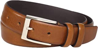 Florsheim Men's Italian Full Grain Leather Feather Edge 32mm Belt
