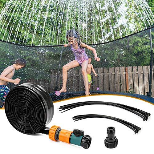 Omasi Trampolin Sprinkler, Outdoor Trampolin Wasserpark Sprinkler, 12M, für Trampolin im Rasengarten, sprühen, um sich abzukühlen