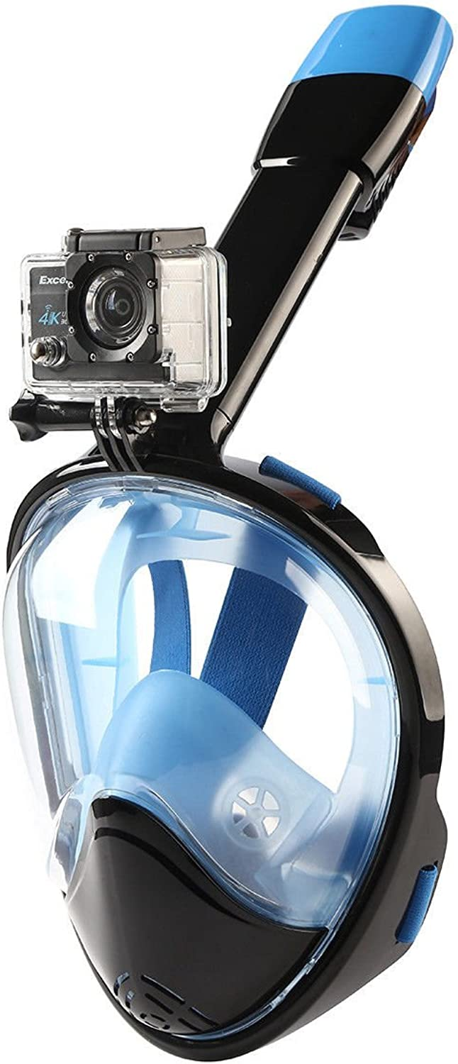 360° Viewing Full Face Snorkeling Mask Snorkels Diving Mask Gopro S L