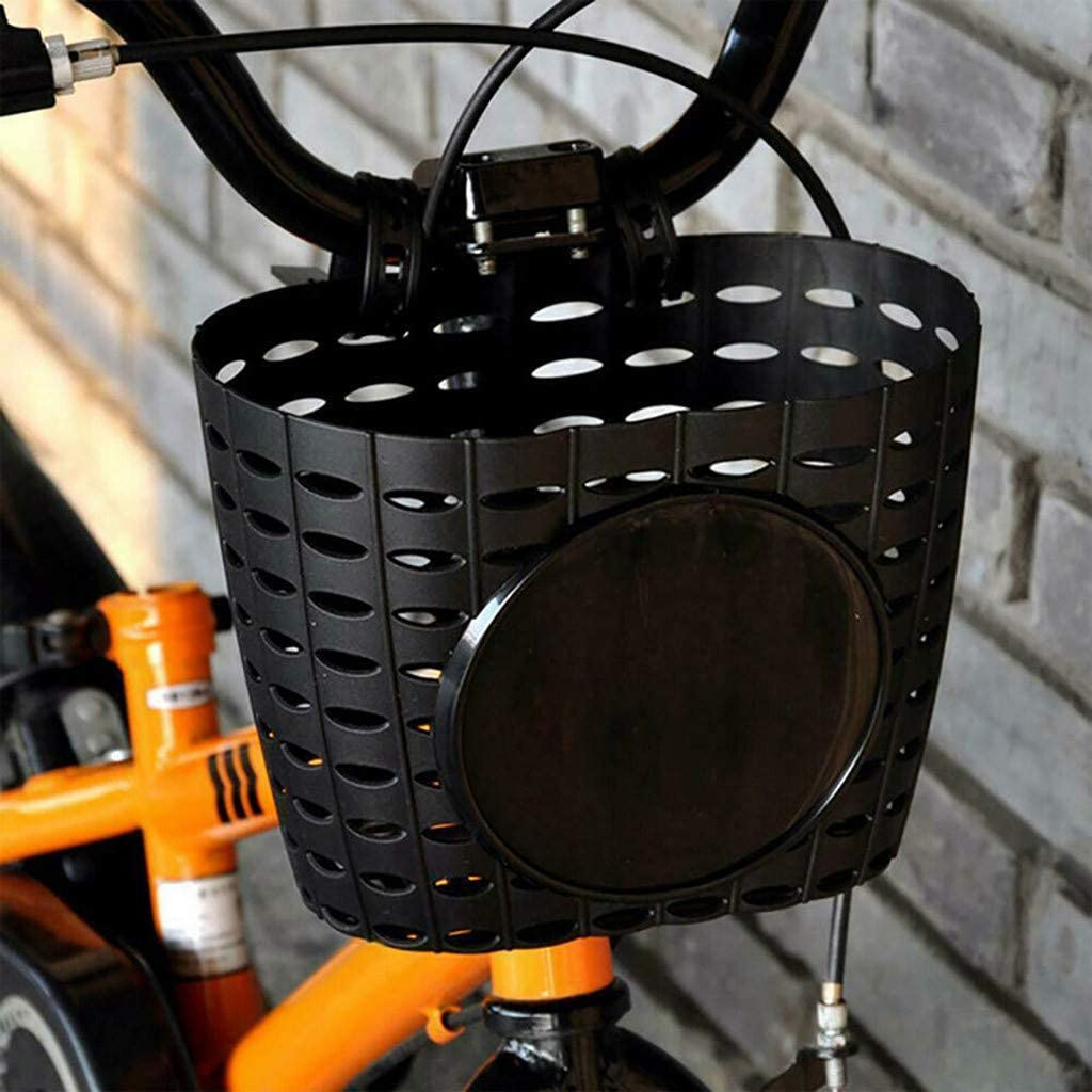 Easy to Install for Outdoor Cycling Detachable Children Bike Storage Holder Plastic Bicycle Basket Front Handlebar Carrier Convenient Carry TinaDeer Bicycle Basket Durable for Storage