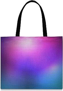 MONTOJ Damen-Handtasche aus Segeltuch, Lila und Blau