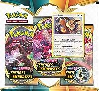Bienvenue dans la nouvelle région Pokémon introduite par Epée et Bouclier : Galar ! Collectionnez les nouvelles cartes Pokémon de la série Epée et Bouclier - Ténèbres Embrasées avec ce pack 3 boosters ! Contient 2 boosters de la nouvelle série Epée e...