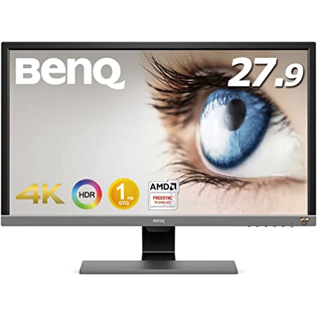 BenQ ゲーミングモニター ディスプレイ EL2870U 27.9インチ/4K/HDR/TN/1ms/FreeSync対応/HDMI×2/DP1.4/スピーカー/アイケア機能B.I.+