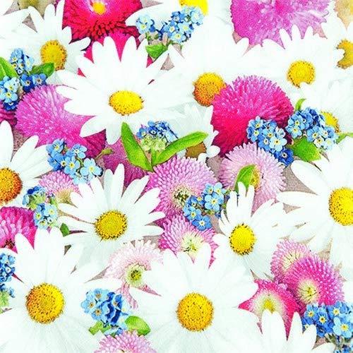 20 Servietten Schönheit des Frühlings | Margeriten | Blumen | Tischdeko 33x33cm