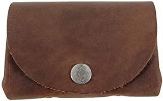 Leather Vintage Money Case Bag Snap On Pouch Wallet Change Holder & Card Organizer Accessories, Handmade Includes 101 Year Warranty :: Bourbon Brown