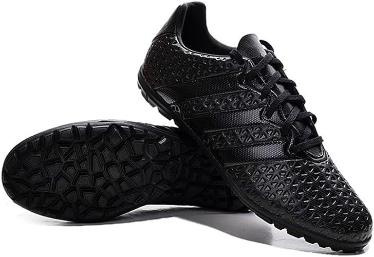 Bruce Ace 161TF Homme Chaussures de football Noir Bottes de Football