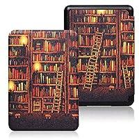 電子書籍の保護カバー 自動スリープ付きPUレザー印刷スマートケースマジックカバー、KindleのPaperwhite 4第10 PQ94WIF 2018に適した、/ウェイク機能 睡眠/覚醒機能 (Color : Gold bookhouse, Size : For PQ94WIF)