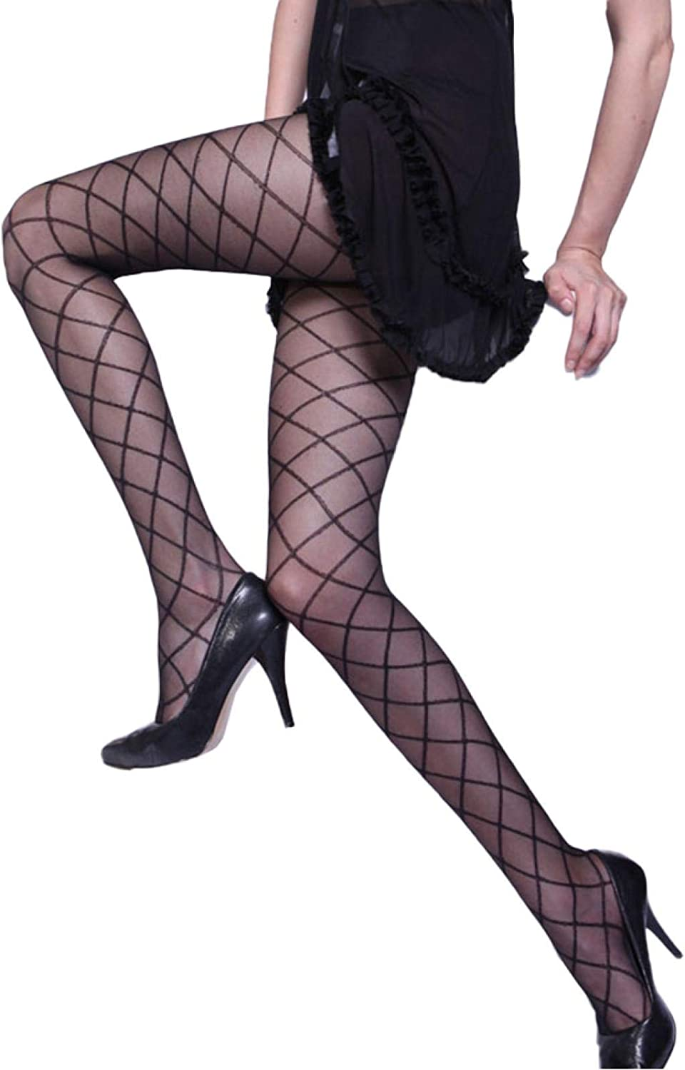 ANNIEE Polka Dot Tights for Women, Womens Black Sheer Patterned Pantyhose Stockings,Fashion Pantyhose