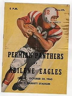 1960 Texas High School Football Program Permian v Abilene 10/28 49438