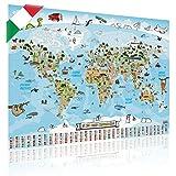 Mappa del mondo per bambini