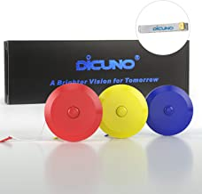 DiCUNO 60-Inch 1.5 Meter Soft and Retractable Tape Measure Medical Body Measurement Tailor Sewing Craft Cloth Dieting Measuring Tape (3 Colors Package with Soft Tape)