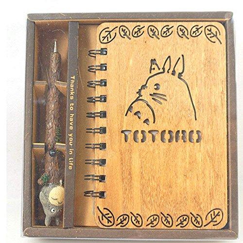 Neues Art- und Weiseanmerker-Geschenk-Kasten-kreatives Harz-dekoratives Briefpapier-gesetztes Totoro Notizbuch und Feder-einteiliges Notizbuch-Set für Kollektoren (Totoro Satz)