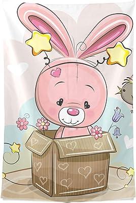 Habitación para niñas Arte la pared Kawaii Conejo bebé Caja pared ...