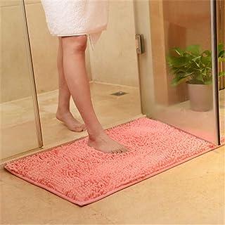 Xiaoxian Tapis de salle de bain antidérapant en microfibre de chenille doux et absorbant lavable en machine