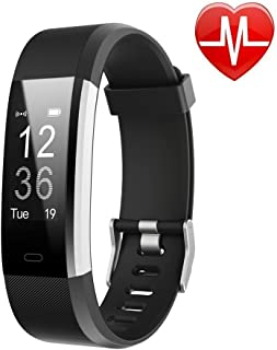 Fitness Tracker HR, Activity Tracker Watch with Heart Rate Monitor, Waterproof Smart Fitness Band with Step Counter, Calorie Counter, Pedometer Watch for Women and Men