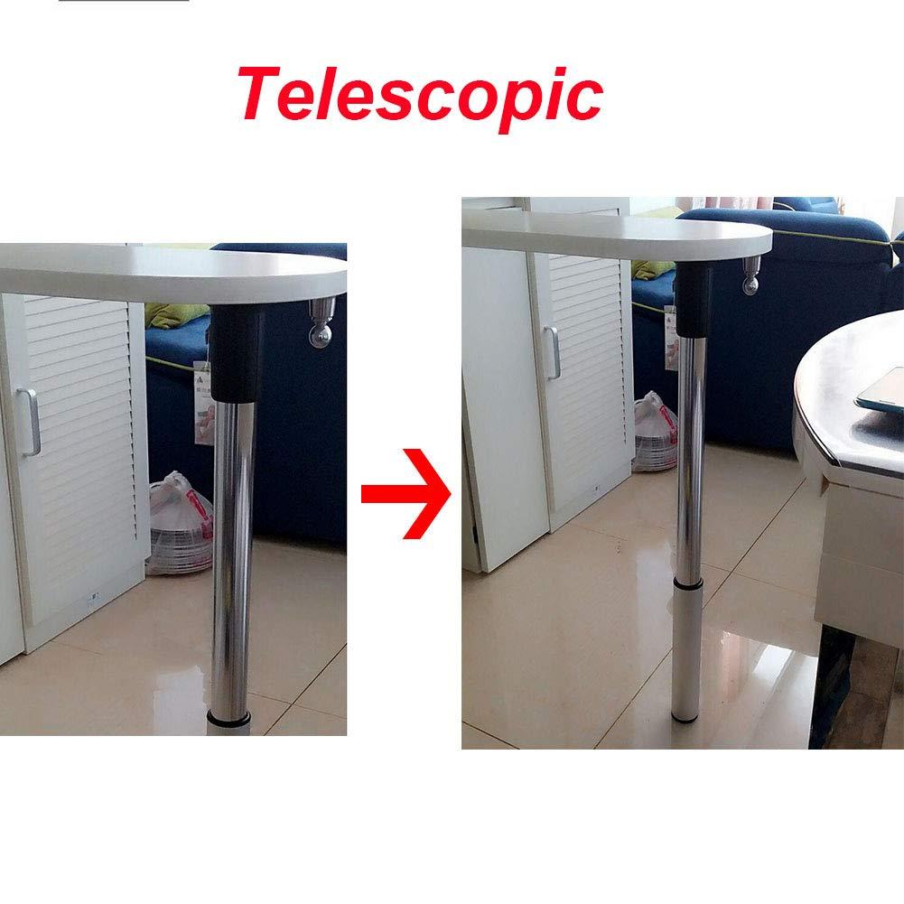 Furniture legs Pata de Mesa Plegable Regulable en Altura Patas de Muebles Telescópica Abatible Pie Extensible para Barra de Desayuno y Encimera 1 Pieza: Amazon.es: Hogar