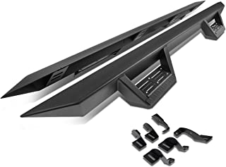 For Tacoma Double(Crew) Cab 3 inches Side Nerf Bar Running Board With Downpipe Step Matte (Black)