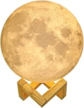 Mopoq 3D Printed Moon Lamp, 18cm Rechargeable Galaxy Moon Lamp, Moon Light Lamp for Kids Gift, Touch Control, USB Recharge...