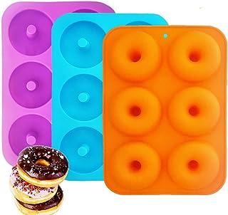 Molde de Silicona Navidad,Chocolate Antiadherente, Jalea, Galletas y Molde de Caramelo,IHUIXINHE Molde de Hornear Pastel (juego de 3) (Donut)