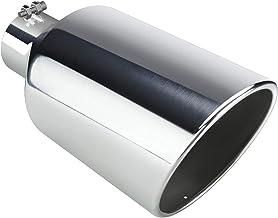 نوک اگزوز 4 اینچی کروم ورودی ، AUTOSAVER88 نکته لوله کشش اگزوز فولاد ضد زنگ جهانی برای وسایل نقلیه کامیون ، 4 8 8 x 15 پیچ و مهره در طراحی.